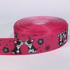 "5 yards of 7/8 inch ""Dogs"" grosgrain ribbon 7/8 inch"