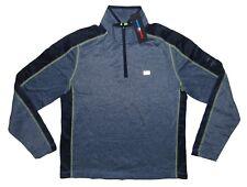 Men'S Tommy Hilfiger Athletic Sport Half-Zip Pullover Fleece Navy Blue M