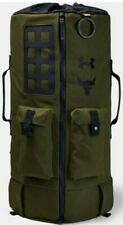 Under Armour Project Rock 90 Bag UA X Duffle Backpack Green New Large