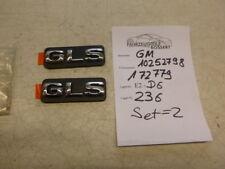 """Opel Sintra """"GTS"""" Emblem Ornament Zeichen Schriftzug NEU OEM SET = 2 Stück"""