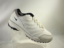 Nike Golf 183242 141 00 Vintage Size 11 M White Blue Leather Lace Up Mens Shoes