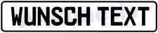 Schild Autoschild | Kfz Kennzeichen | Nummernschild | reflektierend | Wunschtext