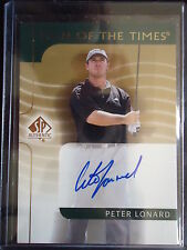 Peter Lonard 2003 SP Authentic Sign of the Times Autograph Card