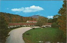 Vintage chrome postcard, Four Winds country motel, Manchester, Vermont