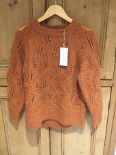 TOAST Alpaca Jumper, Open Lace Stitch, Pumpkin, Size M, BNWT