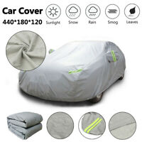 Full Car Cover Waterproof Breathable Snow UV Protection Heavy Duty 2 Layer M