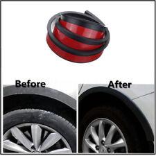 2x 1.5m Rubber Car Wheel Arch Protection Moldings Mudguard Trim Universal Black