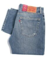 NWT Levi's Men's 514 Regular Fit Straight Leg Zip Jeans Blue Denim Destroyed