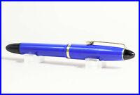 1950er Jahre Kolben Füller mit vergoldeter Feder flexibel Marine Blau & Schwarz