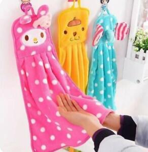 Soft Coral Velvet Towel Bathroom Supplies Cute Hand Towel Absorbent Microfiber