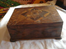 ANTIQUE EMPTY  WOOD VANITY TOILETRY,TRINKET,JEWELRY,CIGAR,CANDLE BOX