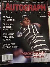 Autograph Collector Magazine. April 2003 Sergio Garcia Cover