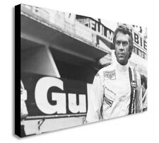 Steve McQueen - Le Mans -  Canvas Wall Art Framed Print - Various Sizes