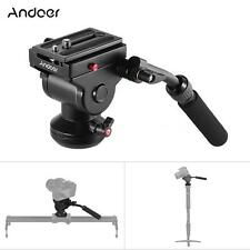 Andoer Video Camera Tripod Fluid Drag Hydraulic Panoramic Photographic Head N9S2