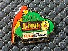 PINS PIN BADGE BD DISNEY EURODISNEY LION PERROQUET ADVENTURLAND