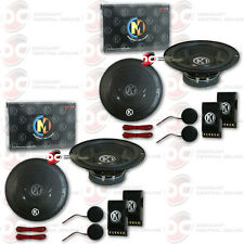 4 x BRAND NEW MEMPHIS SRX 6.5 INCH 2-WAY CAR AUDIO COMPONENT SPEAKERS 6.5