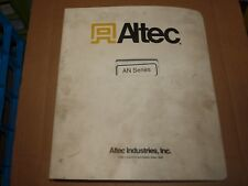 1996 ALTEC AN Series Bucket Truck Maintenance and Parts Manual 749-20011
