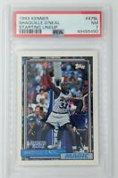 1992 Kenner Starting Lineup Shaquille O'Neal RC #47SL, Graded PSA 7, Pop 2, 11 ^