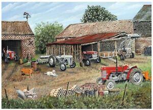 Roy Didwell Red & Grey Fergusons 1000 Piece Jigsaw Puzzle 690mm x 480mm (jg)