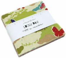 "Lucky Day Moda Charm Pack 42 100% Cotton 5"" Precut Quilt Squares by MoMo"