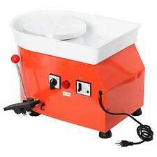 110V 350W 25Cm Electric Pottery Wheel Machine with Adjustable Feet Lever Pedal