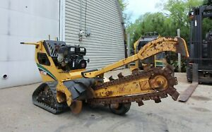 """Vermeer RTX100 Walk Behind Crawler Trencher with 7"""" Tracks - 38"""" x 4"""""""