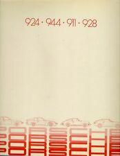 Porsche 1981-82 UK Market Sales Brochure 924 944 911 928