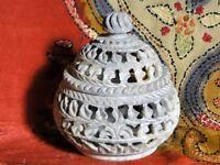 Boîte ethnique indien en pierres Bijoux Fait à la main en Inde Taj Mahal N4