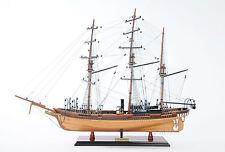 "Css Alabama Confederate Tall Ship No Sales 32"" Wood Model Sailboat Assembled"