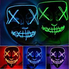 LED Maske mit 3 versch Modi - Halloween / Horror / Party / Purge / Verkleidung.