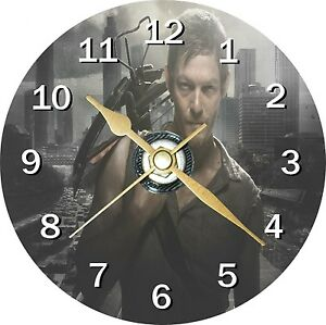 The Walking Dead Daryl Cd Clock Can be personalised