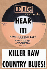 Blues/Rockabilly SIDNEY MAIDEN-Hand Me Down Baby DIG
