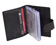 Lovely soft cuir noir titulaire de carte de crédit-Nouveau