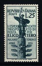 ITALIA REP. - 1954 - 1° esperimento di trasporto di posta aereo per elicottero