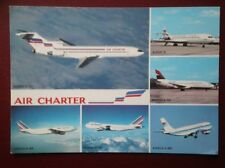 POSTCARD AIR AIR FRANCE - BOEING 727 747 737  - AIRBUS A300
