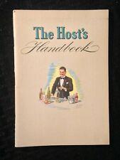 Vintage 1940 The Host's Handbook: Bartender Guide & Recipe Booklet, 4th Edition
