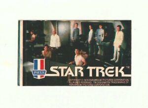 1979 STAR TREK THE MOTION PICTURE STTMP PAULS ICE CREAM STICKER CREW ON BRIDGE!!
