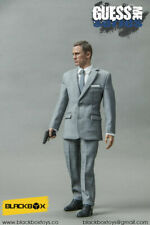 "Caja negra figura 12"" 1/6 James Bond 007 Daniel Craig Gris Traje para DRAGON DID"