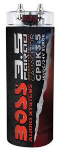 3.5 FARAD Boss Audio CPBK3.5 CAR AUDIO CAPACITOR RED DIGITAL VOLTAGE DISPLAY