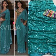 Bollywood Party Indian Silk Saree Designer Wear Saree Pakistani Suit Sari Blouse