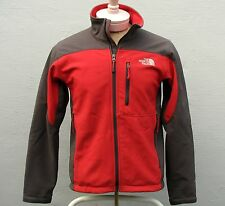 The North Face TNF Apex Men's Red/Gray Soft Shell Fleece-Lined Jacket Small S