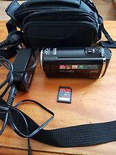 JVC GZ e15 Full HD Videocamera Caricabatterie MEM CARD Custodia