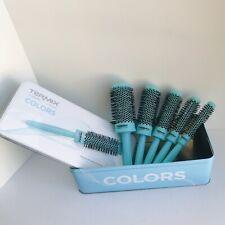 Termix Set Of 5 Pro-Quality / Color Cramix Ionic Round Brushes NWOT Aqua Color