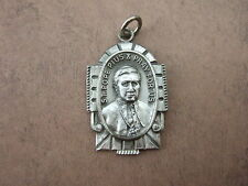Vintage Catholic Medal Pope St. Pius X Pendant with Papal Motto 26mm silverfin.