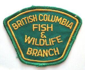 RARE Fish & Wildlife Branch British Columbia Patch