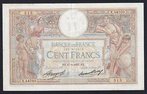 Francia 100 francs Luc Oliver Merson 17.6.1937 BB/VF  B-01