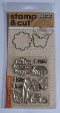 Hero Arts sello y corte claro sello & Die Set-Mariposas y Flores-Nuevo-plse RD