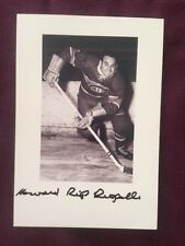 Howard Rip Riopelle NHL Canadiens Autographed Signed Photo D. 2013