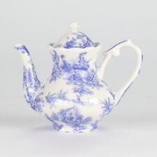 "Antique Style Blue White Miniature Mini Teapot European tea cup Mark 3.5"" 9cm"