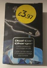 JOYSTICK JUNKIES Dual Car Charger USB for Nintendo 3DS 2DS DSi DS Lite Consoles